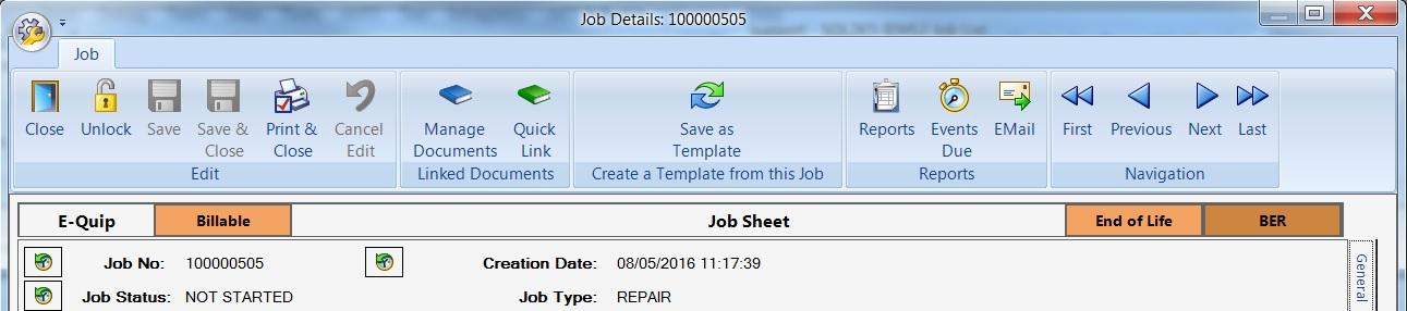 Job Header